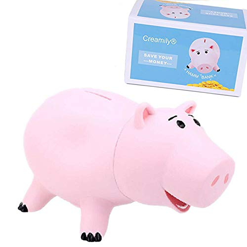 Creamily Hucha Cute Pink Pig Money Box Caja De Monedas