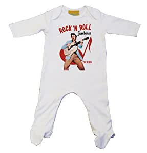 Elvis JAMBOREE Baby Grow White (6-12, White)
