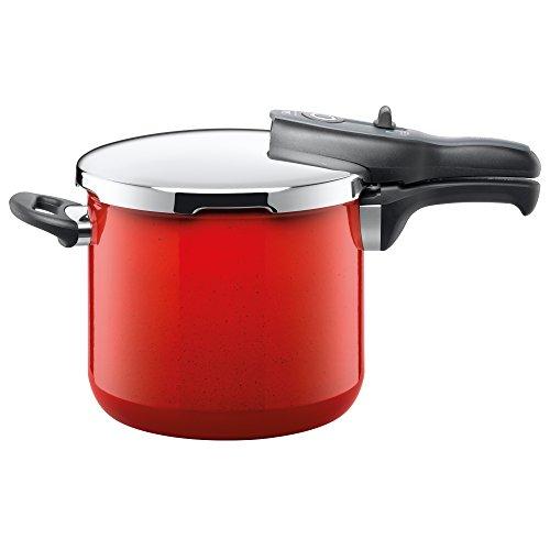 Silit Sicomatic t-plus Schnellkochtopf 6,5l ohne Einsatz Ø 22cm rot Energy Red Made in Germany Innenskalierung Silargan Funktionskeramik induktionsgeeignet