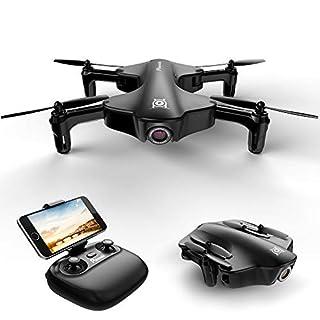 Mini Drohne FPV Potensic faltbar Flugrouten Bestimmungs Modus (TapFly) mit HD WiFi Kamera Live Übertragung, 2.4Ghz 6-Axis gyro,120°Aufnahmewinkel, Headless Modus, RC Quadcopter für Anfänger und Kinder