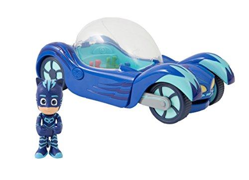 Giochi Preziosi Super Pigiamini Pj Masks Veicolo Gattomobile con Luci e Suoni, Personaggio Gattoboy Incluso