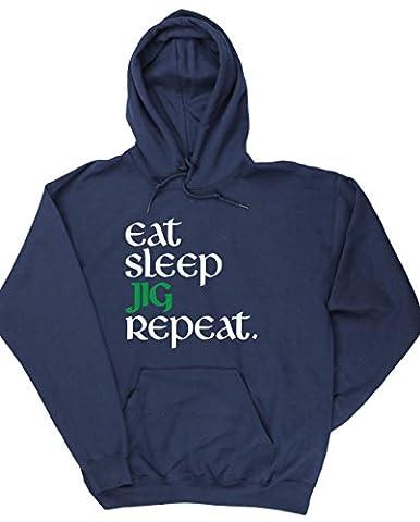HippoWarehouse - Sweat-shirt à capuche - Homme - bleu - XX-Large