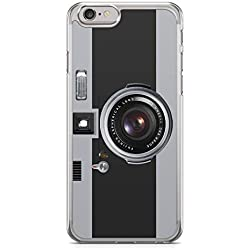Funda Carcasa Camara Fotos Retro Vintage para iPhone 6 Plus 6PLUS Silicona Transparente TPU Flexible