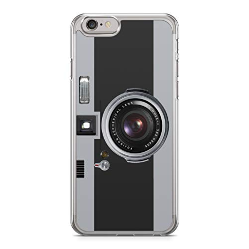 Funda Carcasa Camara Fotos Retro Vintage para iPhone XR Silicona Transparente TPU Flexible