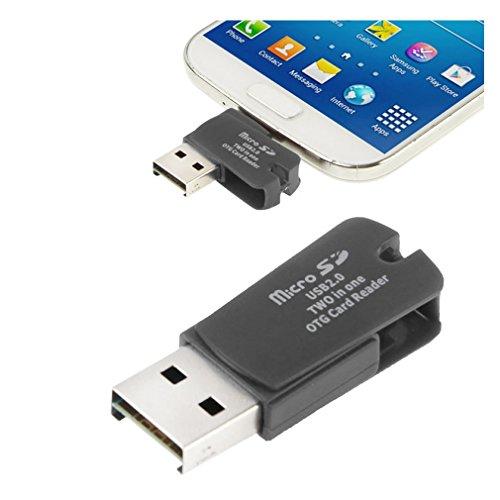 2en1 USB 2.0 OTG Lector tarjetas memoria micro SD