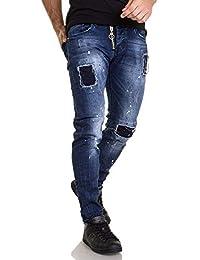 BLZ Jeans - Jean Bleu Homme déchiré 1151 tâches ... 971dfbb3bcd