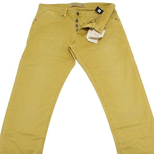 81644 pantaloni lunghi SIVIGLIA giallo STRETCH jeans uomo trousers men [32]
