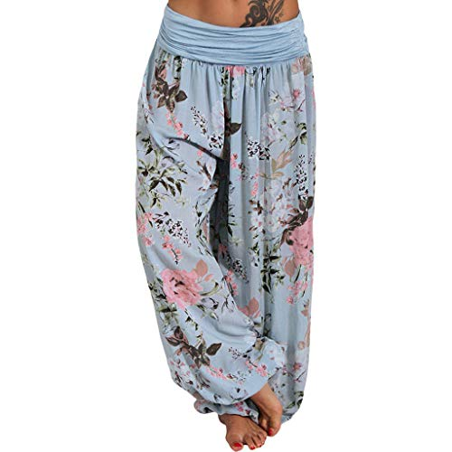 QIMANZI Sporthose Damen Fitnesshose Yoga Leggings Sporthosen Fitness Stretch Tights Shorts Compression Sports Kurze Hosen(C Hellblau,4XL) -