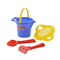 Polesie 2951 147, Flower Sieve, Shovel, Rake No.2-Sets: Lipped Bucket, Small, Multi Colour