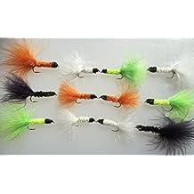 Pesca moscas Nobblers EasyCast 12–Juego de moscas selección trucha pesca tamaño diez unidades # 68