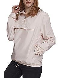 Urban Classics Damen Übergangsjacke Ladies Basic Pull-Over Jacket, leichte  Streetwear Schlupfjacke, Windbreaker ce1cdfb165