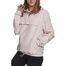 Urban Classics Damen Übergangsjacke Ladies Basic Pull-Over Jacket, leichte  Streetwear Schlupfjacke, Windbreaker 7a0be3c1ed