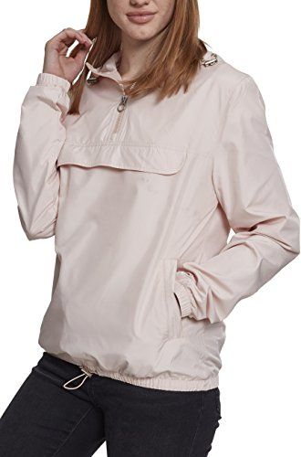 Urban Classics Damen Übergangs-Jacke Ladies Basic Pull-Over Jacket ,light pink ,L
