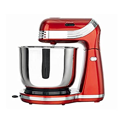 Goodqol 6 Speed Metalic Red 3L Electric Stand Mixer with Tilt Release and x2 Dough Hooks / Beater