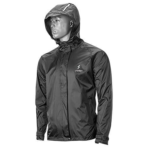 Fahrradjacke Winddichte Radsport-Jacken für Herren, Reflective Jacket Regenbekleidung, Radfahren Regenjacke mit Kapuze für Männer Frauen Passt Radfahren/Laufen/Skifahren/Wandern (XXXXL)