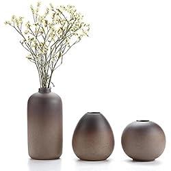 Rachel's 8CM Estilo antiguo Jarrón de ceramica Conjuntos Decoración hogareña Regalo ideal para Boda Hydroponic Plant Florero Macetas Conjunto de 3
