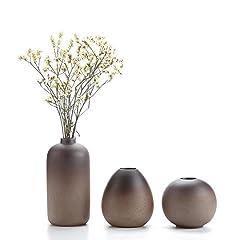 Idea Regalo - T4U Stile Antico Set di Vaso in Ceramica Decorazioni per la Casa Cerimonia Nuziale Vaso da Piante Idroponiche Vasi di Fiori Pacchetto di 3