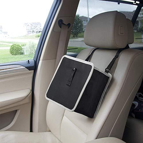 Auto Mülleimer, Zusammenklappbar Kfz Abfallbehälter Wasserdicht Auslaufsicher Autositztasche für Müll, Grau