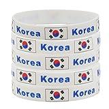 SpringPear® 5X Armband mit Koreanischer Flagge Fußball WM Fanarmband Weltmeisterschaft FIFA National Flagge Silikonarmbänder (5 Pcs)
