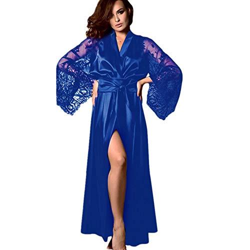 Baumwolle Satin Robe (IYHENZ Morgenmantel Bademantel Damen Baumwolle Sommer Kimono Leicht Robe Jersey kurz Hausanzug Sleepwear Saunamantel Bademantel Baumwolle Saunamantel kurz Robe schlafmantel)