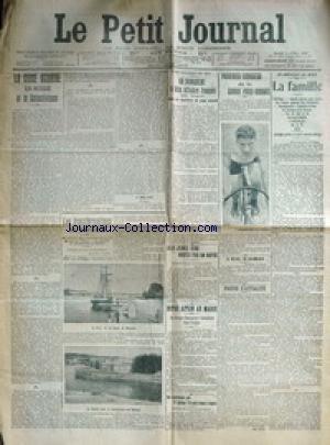 PETIT JOURNAL (LE) [No 92] du 02/04/1907 - LA CRISE AGRAIRE EN RUSSIE ET LE COLLECTIVISME - PASSERIEU VAINQUEUR DE LA COURSE PARIS-ROUBAIX CYCLISTE - EN AMERIQUE DU NORD - LA FAMILLE - DEUX JENES BROYES PAR UN RAPIDE A SAINT-BRICE-COURCELLES - EUGENE DEQUET ET JENNES ROBERT - NOTRE ACTION AU MAROC - LES TROUPES DANS OUDJDA - MME RUSSELL SAGE - UNE AMERICAINE QUI PAIE BEAUCOUP D'IMPOT - PLUS QUE ANDREX CARNEGIE - ARTICLE DE J. MELINE - LES TRANSFORMATIONS DE BAYONNE. par Collectif