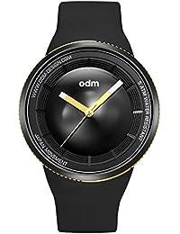 "ODM ""Focus Camera AE-1"" Cuarzo Acero Inoxidable IP Negro Silicona Oro Reloj Unisex"