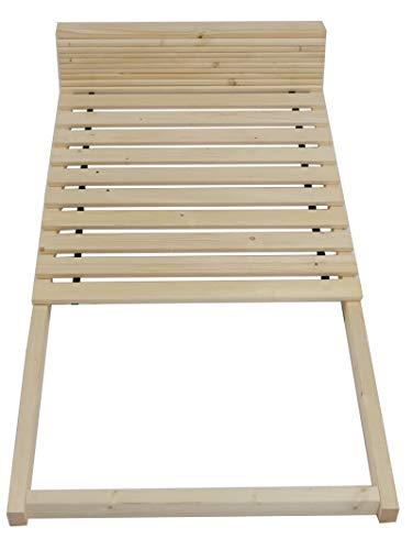 TUGA - Holztech Stabiler unbehandelter Naturholz Lattenrost bis 300Kg Flächenlast für Bettgröße 90x200cm Keine Kullen kein Durchhängen für Leicht - u. Schwergewichte Palettenbett