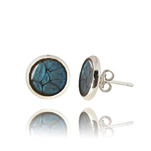 Mini Ohrstecker in Lapis Lazuli Blau in Geschenkverpackung