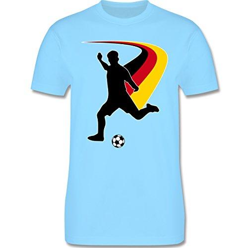 EM 2016 - Frankreich - Fußballspieler + Deutsche Flagge - Herren Premium T-Shirt Hellblau