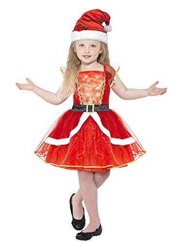 Smiffys 21832T - Kinder Mädchen Miss Santa Kostüm, Alter 12 Plus Jahre, One Size, ()