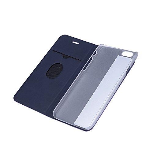 Ultradünne Kunstleder bunt Handytasche mit Stand Funktion Book Style für iPhone 6 6S 4,7 Zoll(bunt) … Lila
