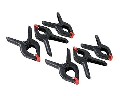 30,5x 15,2cm en plastique solide Pinces ressort Clips de stand de marché Nylon Grand Bâche.
