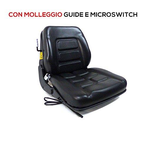Abattant avec molleggio incorporé pour tracteur cingolato et chariot élévateur Cod. 38026