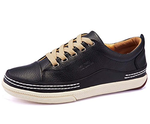Four Seasons Shoes Leather Hombres Zapatos Young Business Scarpe Casual Scarpe Basse Negro