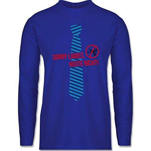 Karneval & Fasching - Sorry Ladies - Weiberfastnacht - Longsleeve / langärmeliges T-Shirt für Herren Royalblau