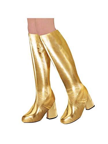 WIDMANN 65789 Stiefelüberzieher für Erwachsene, Gold (Gold Stiefel Kostüm)