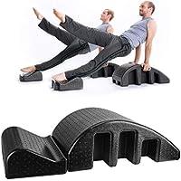 N Pilates Spine Yoga Pilates Spine alineador, Trasera Fina Cervical Equipo de curvatura, Corrección de la Columna Vertebral, Formación rehabilitación adecuados, Negro Lumbar masajeador