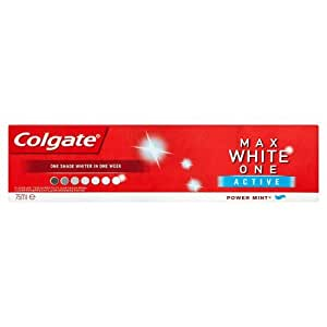 Colgate Max Blanc One 75ml ACTIVE - avec turbo-Blanchiment Booster mousseux dents blanches