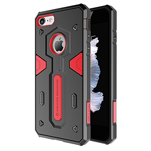 IPhone 7 Fall NILLKIN Tough Defener II Fall Shockproof TPU + PC Kombinationsfall für iPhone 7 by diebelleu ( Color : Black ) Red