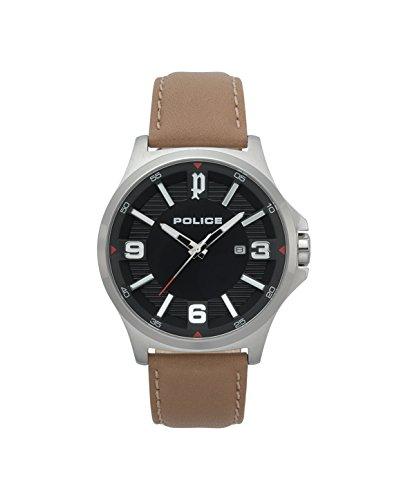 Police Reloj Cronógrafo para Hombre de Cuarzo con Correa en Cuero PL.15384JS/02