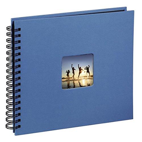 miglior prezzo Hama Album porta foto Fine Art con spirale, 50 foto 28×24, colore azzurro