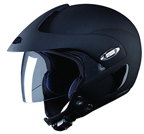 Studds Marshall SUS_MOFH_MBLKL Open Face Helmet (Matt Black, L)