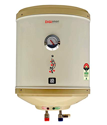DIGISMART 25 L Storage 2 kVA Geyser with Temperature Meter, ABS Top Bottom, HD ISI Element (Ivory)