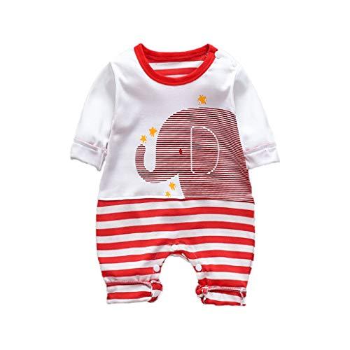 Tier Kostüm Reit - jerferr Säugling Strampler Langarm gestreiften Elefanten Strampler Overall Kleidung