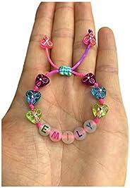 Braccialetto personalizzabile EMILY Perlato Alphabet FLUO FLUORESCENTE LUMINOSA NEON (reversibile, impermeabil