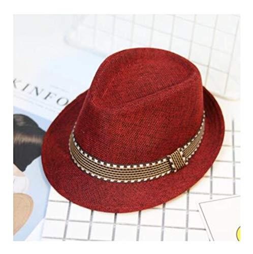 YANGFH Neue Strohmütze Baby Hüte Kinder Jazz Kappe Eimer Hut Sonne Kappe Sommer Hut Für Mädchen Jungen Panama Hut Fotografie Requisiten 56-58cm (Große Hüte Für Verkauf)