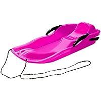 CamKpell Deportes al Aire Libre Tableros de esquí de plástico Trineo LUGE Nieve Hierba Tablero de Arena Pista de esquí Tabla de Snowboard con Cuerda para Personas Dobles