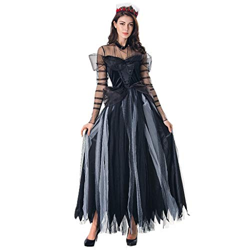 Isshop Damenrock Halloween Damen New Horror Game Cosplay Bar Kleid Kostüm Bühnenrock Casual Holiday Bohemian Polyester -