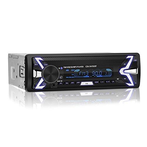 YOHOOLYO Autoradio Bluetooth Auto Stereo Audio Ricevitore In-Dash Radio FM MP3 Player Aux SD Card USB con telecomando