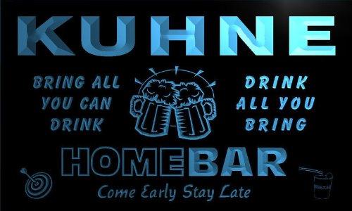 q24675-b-kuhne-family-name-home-bar-beer-mug-cheers-neon-light-sign